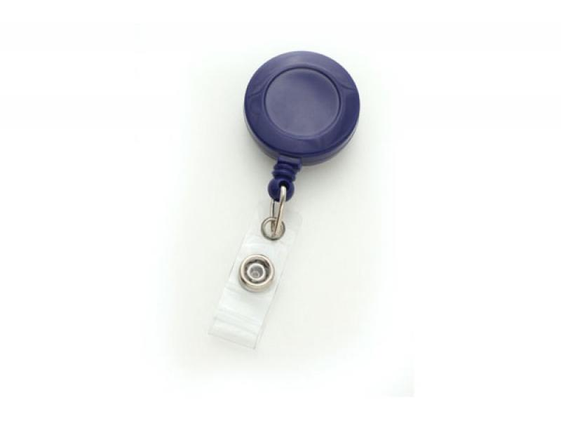 Brady 2120-3032 Blue Solid Color Badge Reel with Clear Vinyl Strap and Belt Slide-On Clip