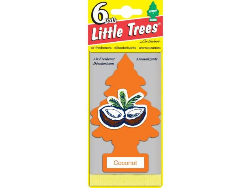 LITTLE TREES Air Freshener 6-pak - Coconut