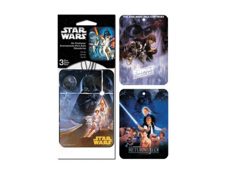 Plasticolor Star Wars 3 Pack Star Wars Paper Air Freshener